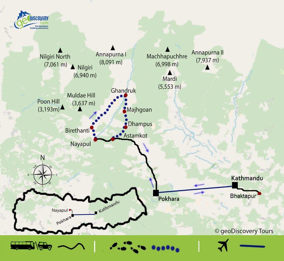 Trekkingmappe für den Annapurna Komfort Trek
