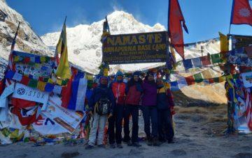 Gruppe am Annapurna Base Camp